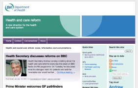 Screenshot from the Health and care reform channel