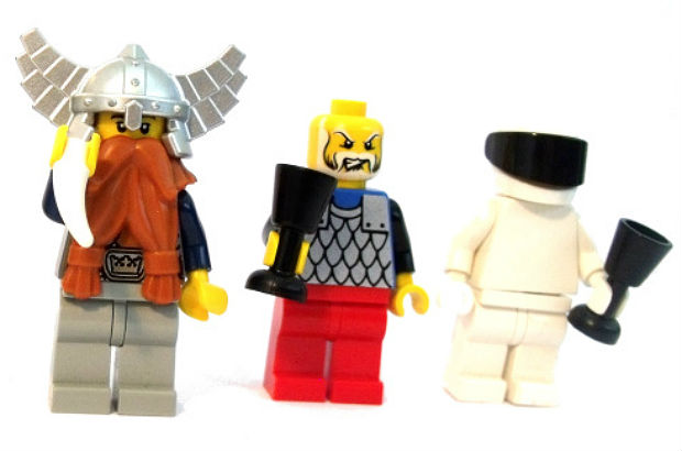 Lego Ethelred and lego spaceman
