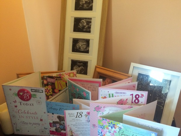 Baby scan and birthday cards