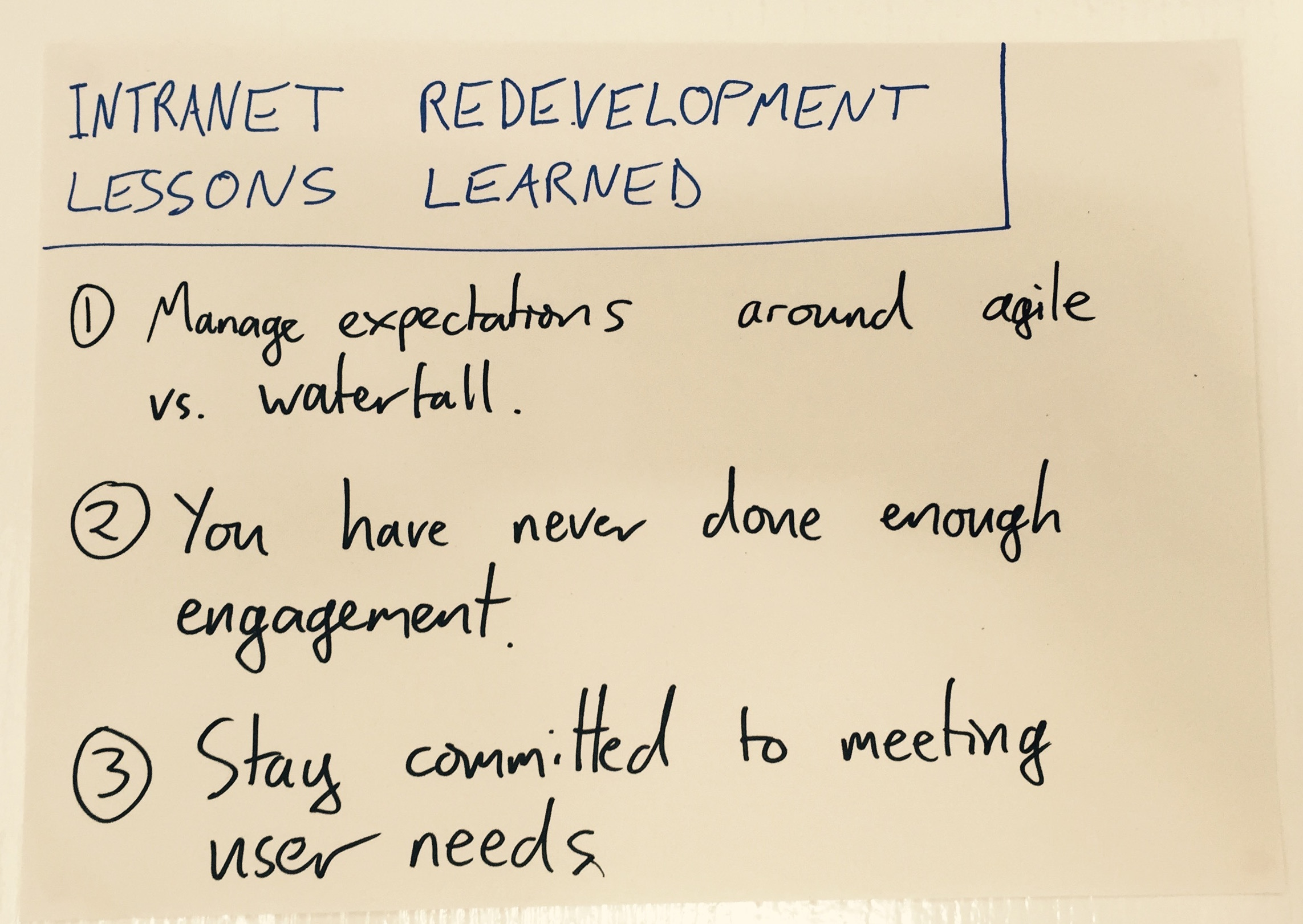dh intranet lessons learned