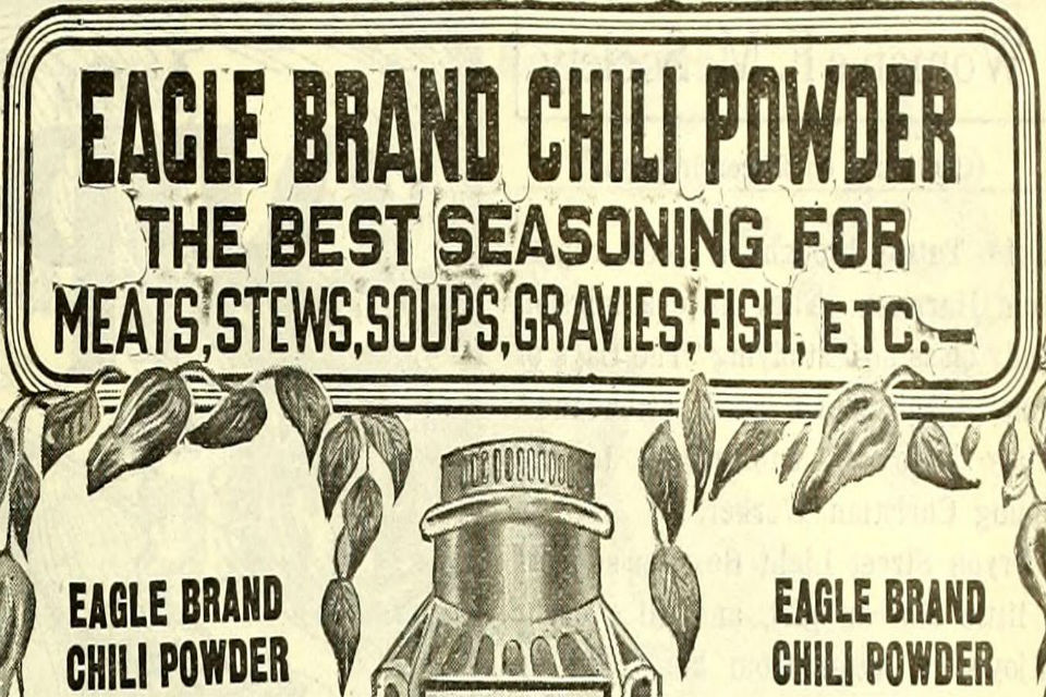 Vintage picture for chilli powder.
