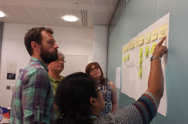 PHE digital team doing some user journey mapping.