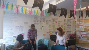 The Department of Health Digital Team putting up bunting
