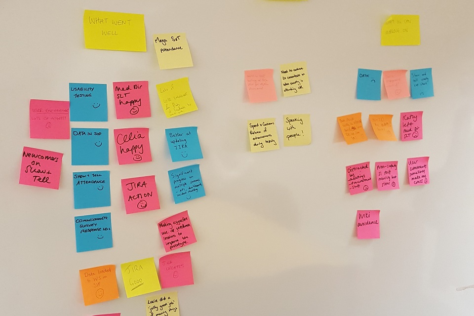 Agile post-in notes