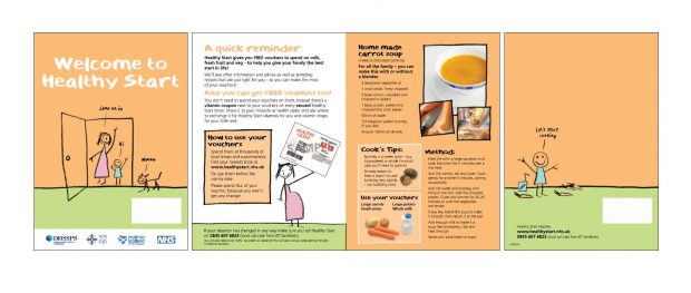 Example of Healthy Start leaflet